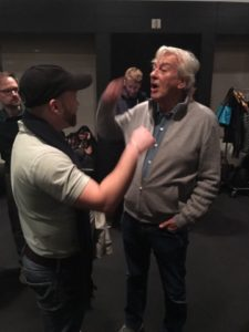 "Me and the Maestro of Over-the-Topness himself, Paul Verhoeven, at a Film Society of Lincoln Center screening of ""Showgirls"" - 11/16/16"